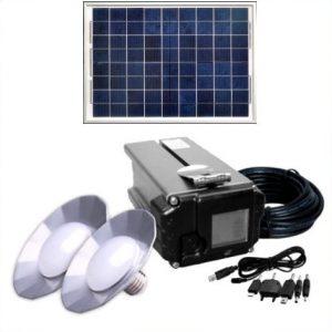 Solcelleanlæg 5-55W til båd, camping, kolonihave, hytte