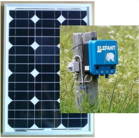 Solcelleanlæg SCH30, 30W/12V til ELHEGN