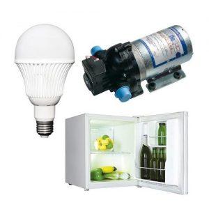 Forbrug Lys, køleskab, pumper, ventilation