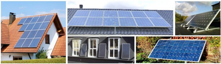 Solceller, solcelleanlæg, batteridrift, nettilslutning