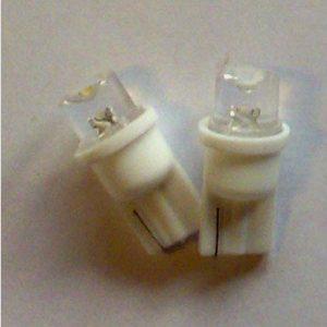 T10 LED pære 0,125W- 12V, varm/hvid