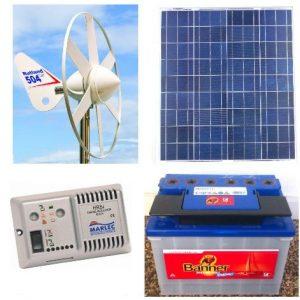 Hybrid sol/vind anlæg