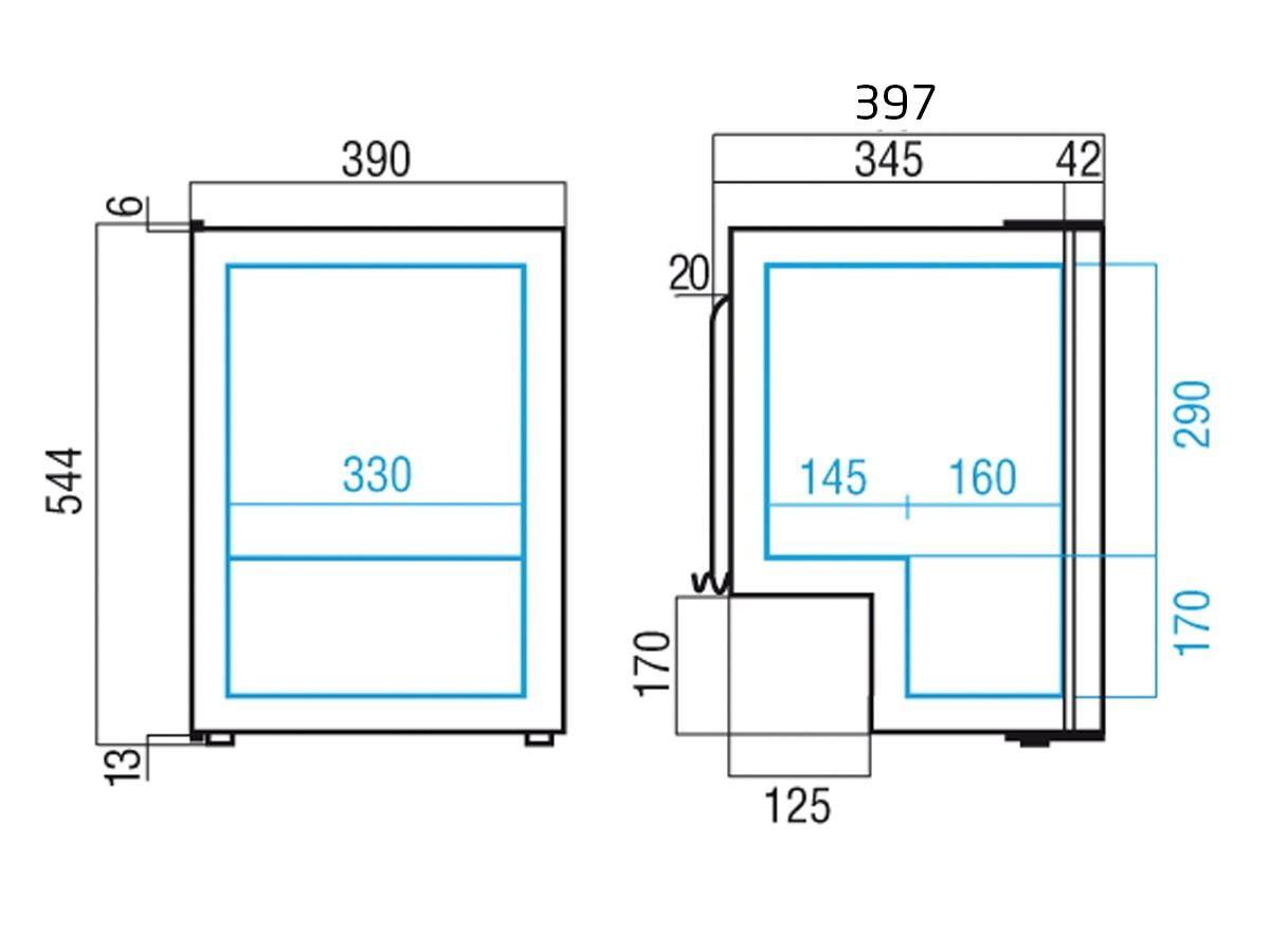 Køleskab m/ fryseboks C39i