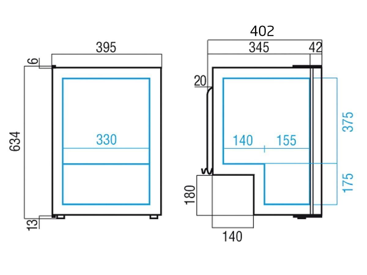 Køleskab m/ fryseboks C50i