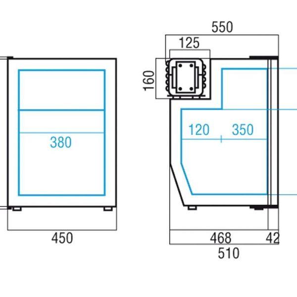 Køleskab m/ fryseboks C90i