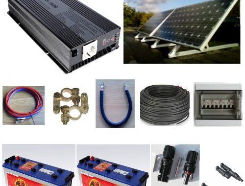 Solcelleanlæg SC300BI med batteri og inverter