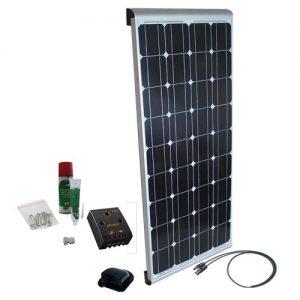 Solcelleanlæg til campingvogn AERO, 100W/12V, PWM, Spoiler