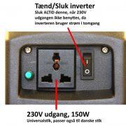 Camping kit 80 inverter