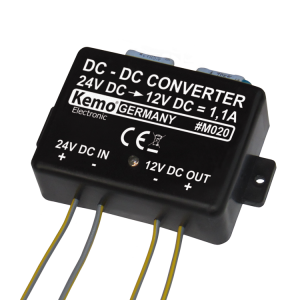 DC / DC-konverter M020, 24 V / DC til 13,8 V / DC max. 1,1 A