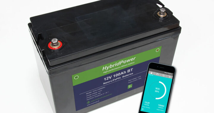 12V 100Ah LiFePO4 batteri mAPP overvågning