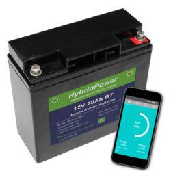 12V 20Ah LiFePO4 batteri mAPP overvågning