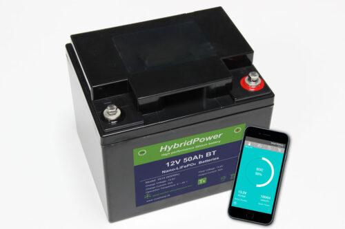 12V 50Ah LiFePO4 batteri mAPP overvågning