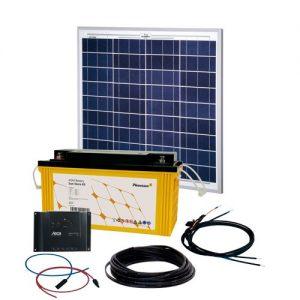 Solcelleanlæg, generator kit Solar Rise One 2.0 50W/12V