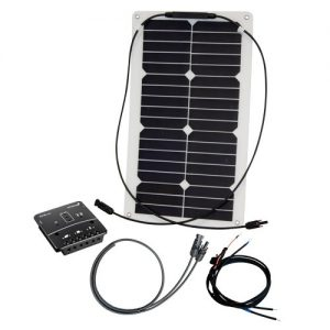 Solcelleanlæg, generator kit Flex Rise One 20W/12V, uden batteri