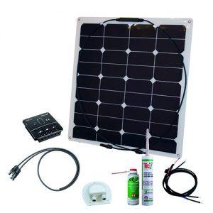 Solcelleanlæg, generator kit Flex Rise Three 55W/12V, uden batteri