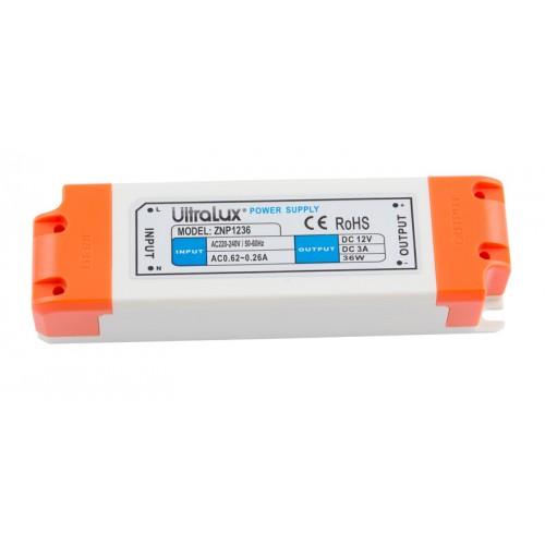 LED-strømforsyning , 36W, 12V DC
