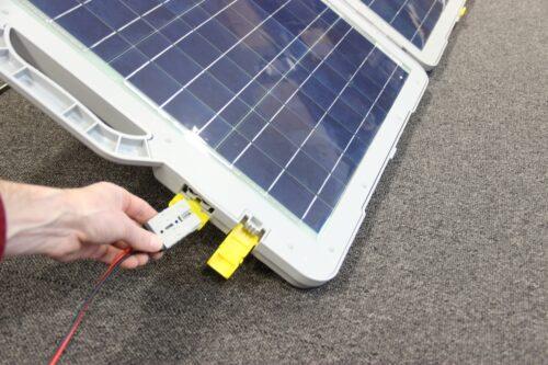 120W luxus solcellekuffert med MPPT lader