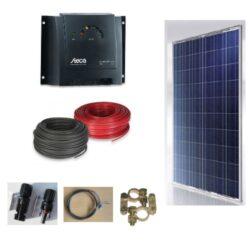 Solcelleanlaeg SC270P, 270W til 12/24V systemer